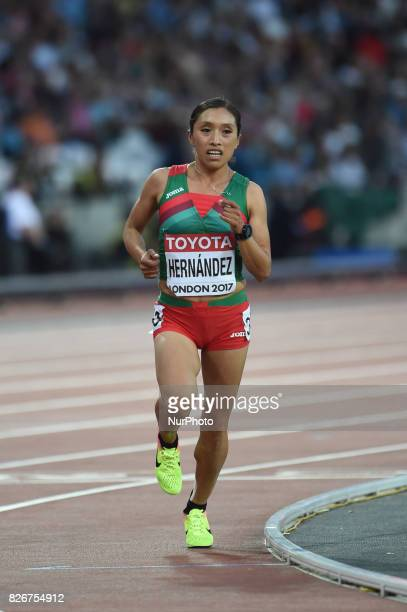 Margarita HERNÁNDEZ Mexico during 10000 meter final at London Stadium in London on August 5 2017 at the 2017 IAAF World Championships athletics
