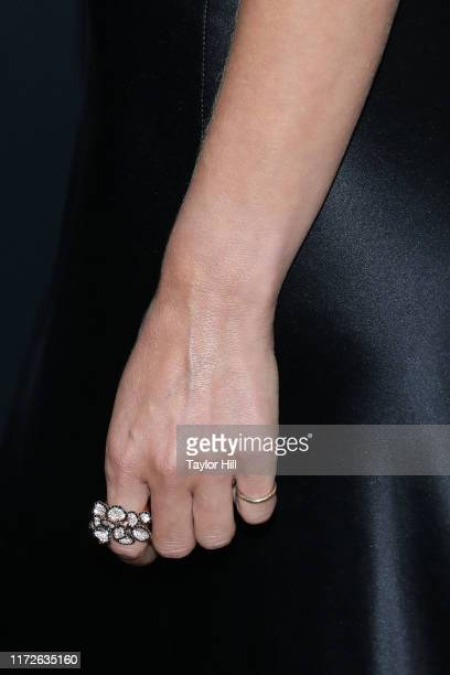 """Margarita Levieva, ring detail, attends a special screening of the final season of """"The Deuce"""" at Metrograph on September 05, 2019 in New York City."""