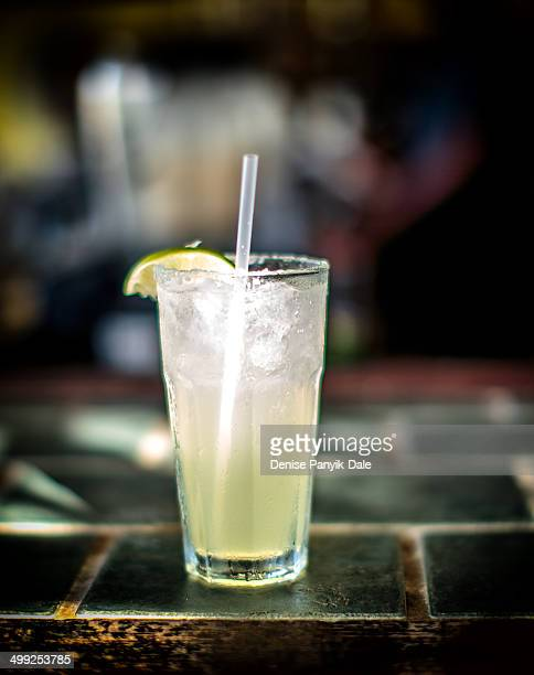 margarita lighted by sunshine at beach bar - margarita beach stock photos and pictures