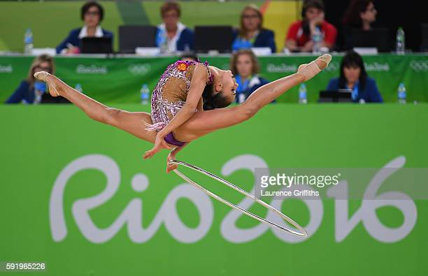 Margarita Mamun of Russia competes during the Rhythmic Gymnastics Individual AllAround on August 19 2016 at Rio Olympic Arena in Rio de Janeiro Brazil