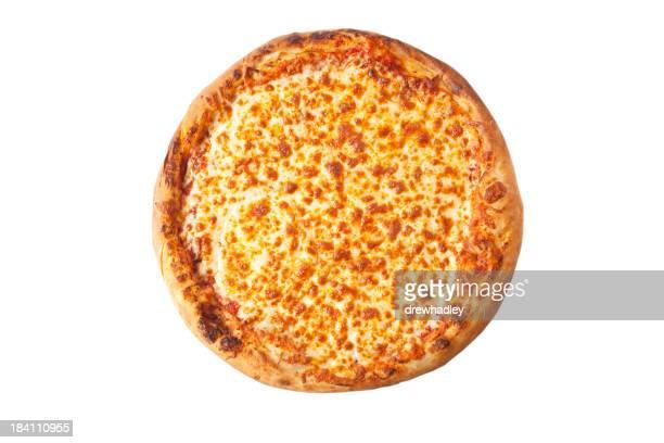 Pizza Margarita, isoliert auf weiß.