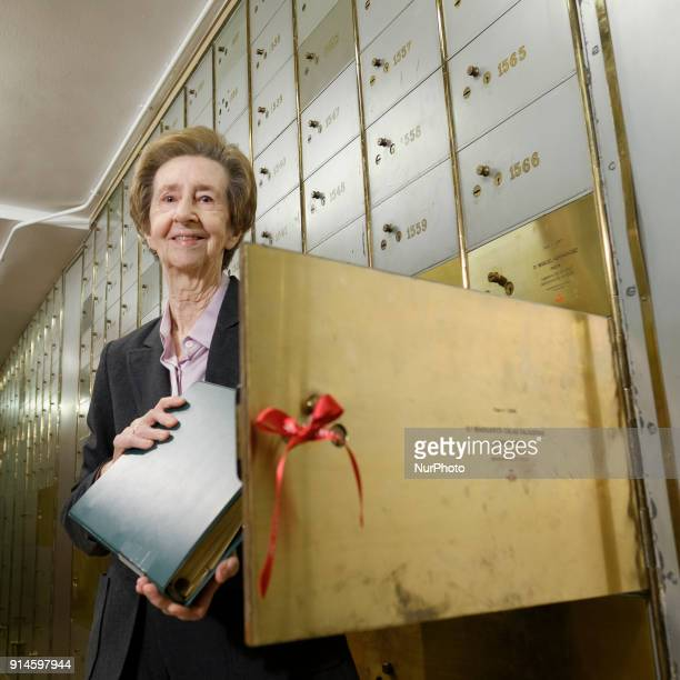 Margarita Salas molecular biologist collect the legacy she deposited ten years ago in the Caja de las Letras of the Cervantes Institute in Madrid...