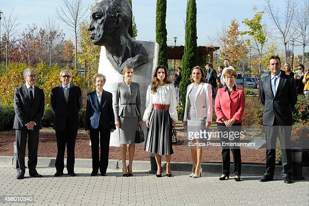 Margarita Salas Queen Letizia of Spain and Queen Rania of Jordan attend Molecular Biology Center 'Severo Ochoa' at Autonoma University on November 20...