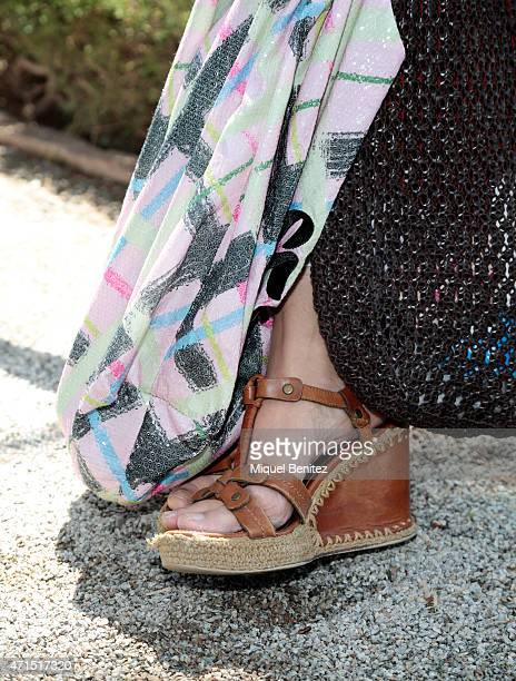 Margarita shoe and bag detail wears a jacket and a bag of Pinko a Parosh dress a Godo's Pin Schumacher trousers CK sunglasses collection jewelry by...