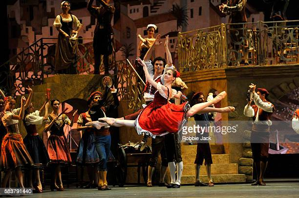 Margarita Shrainer as Kitri and Artem Ovcharenko as Basil in The Bolshoi Ballet's production of Marius Petipa's Don Quixote staged by Alexei...
