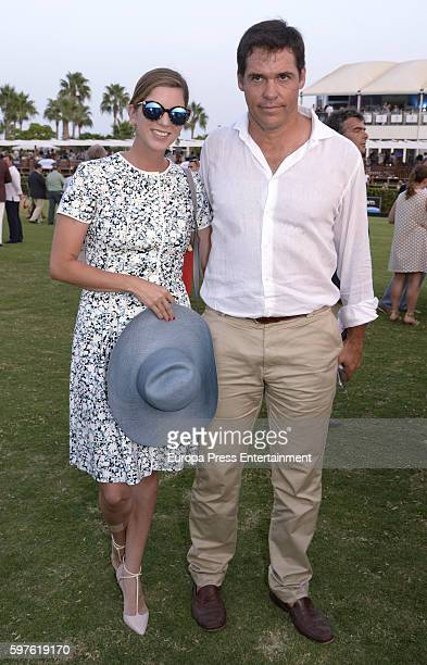 Margarita Vargas and Luis Alfonso de Borbon attend the Cartier Golden Cup Cup during the 45th International Polo Tournament Final on August 28 2016...