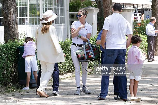Margarita Vargas and Luis Alfonso de Borbon attend the Global Champions Tour show jumping tournament on May 22 2016 in Madrid Spain