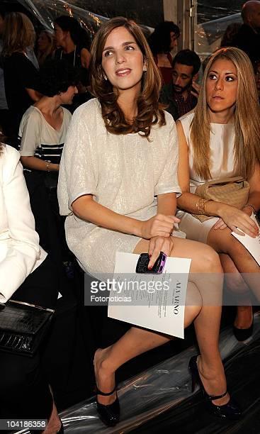 Margarita Vargas attends the Alvarno fashion show at the Villamagna Hotel on September 16, 2010 in Madrid, Spain.