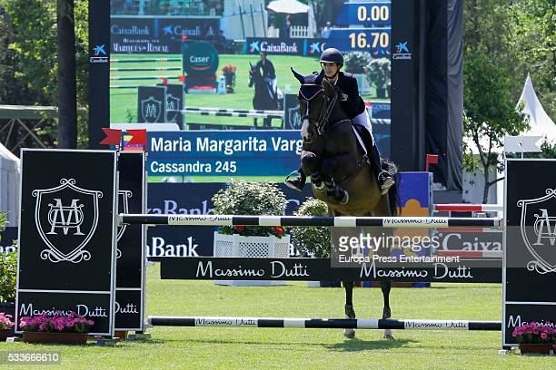 Margarita Vargas attends the Global Champions Tour show jumping tournament on May 22 2016 in Madrid Spain