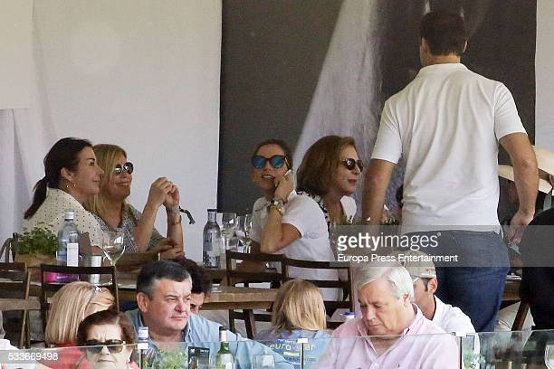 Margarita Vargas Carmen Martinez Bordiu and Luis Alfonso de Borbon attend the Global Champions Tour show jumping tournament on May 22 2016 in Madrid...