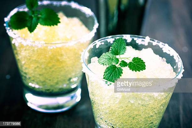 Margarita with lime and crushed ice