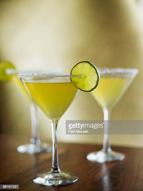 Margaritas with limes