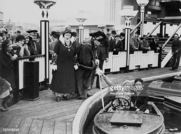 Margate Mayer And Mayoress At The Grand Opening Of The Dreamland Amusement Park In England On May 22Nd 1931