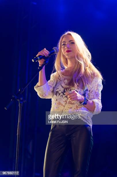 Margaux Avril performing live at the 'Fete de l'espoir' meaning 'Celebration hope' of Geneva on May 18 2013 in Geneva in Switzerland