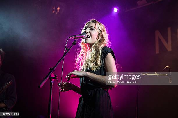 Margaux Avril performs at Le Nouveau Casino on October 22 2013 in Paris France