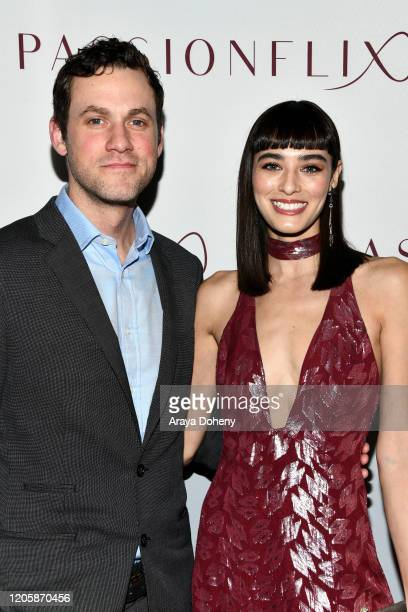 Margaux Brooke and guest attend Passionflix's The Will Los Angeles Premiere on February 12 2020 in Culver City California