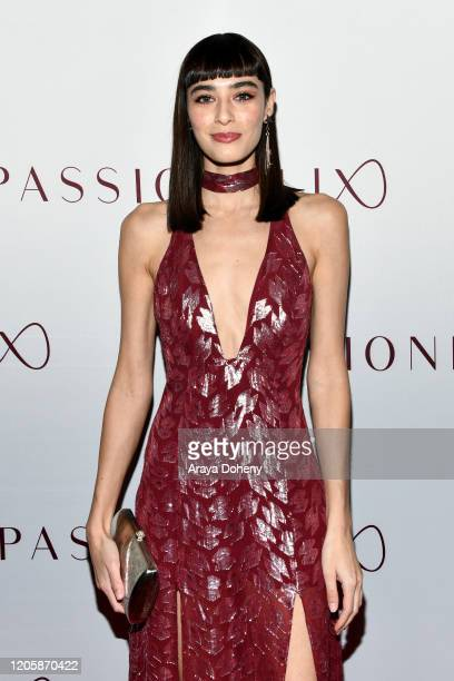 Margaux Brooke attends Passionflix's The Will Los Angeles Premiere on February 12 2020 in Culver City California