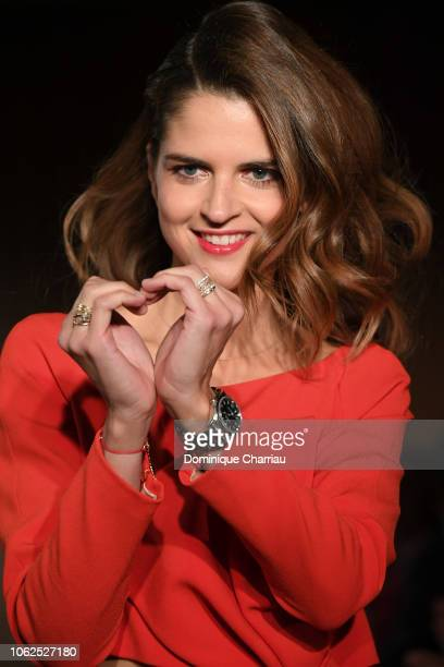 Margaux de Frouville attends the Sauvez Le Coeur Des Femmes Red Defile Show At Hotel Marrriot In Paris on November 16 2018 in Paris France