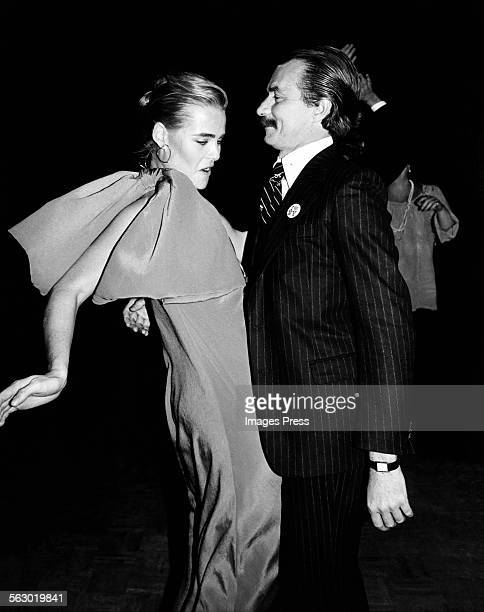 Margaux Hemingway and Bernard Foucher at Studio 54 circa 1978 in New York City