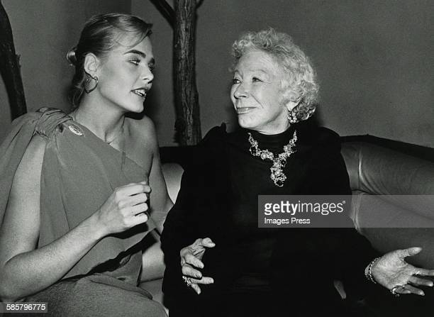 Margaux Hemingway and grandmother Mary Hemingway at Studio 54 circa 1978 in New York City