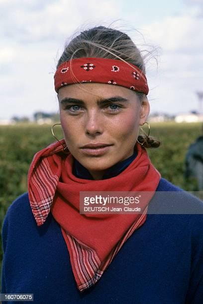 Margaux Hemingway Godmother Of 1980 Vintage Chateau Margaux. Château Margaux- novembre 1980- Portrait de Margaux HEMINGWAY, marraine du millésime 80...