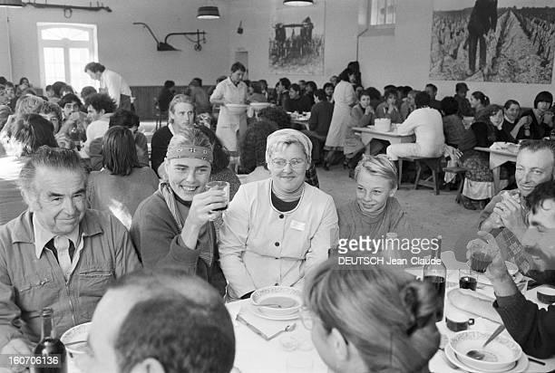 Margaux Hemingway Godmother Of 1980 Vintage Chateau Margaux. Le 20 octobre 1980 en France, invitée d'honneur du club de la presse de Bordeaux à la...
