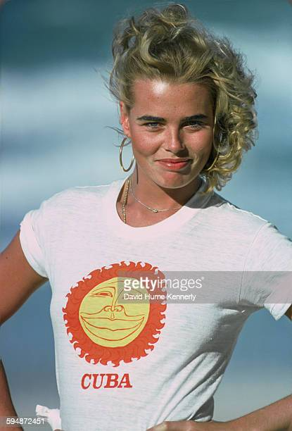 Margaux Hemingway poses for photos, February 1978 in Havana, Cuba.