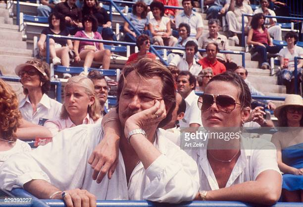 Margaux Hemingway with her husband Bernard Floucher 8th Annual RFK Pro-Celebrity Tennis Tournament 8-25-1979 Flushing Meadow Park; circa 1970; New...