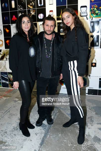 Margaux Reiffers AaronJahStone and aughter of Yannick Noah model Jenaye Noah attend the Launching of the Book 'Mocafico Numero' at Studio des Acacias...