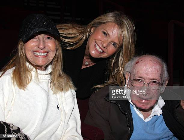 COVERAGE* Marge Brinkley daughter Christie Brinkley and father Don Brinkley pose backstage at South Pacific on Broadway at the Vivian Beaumont...