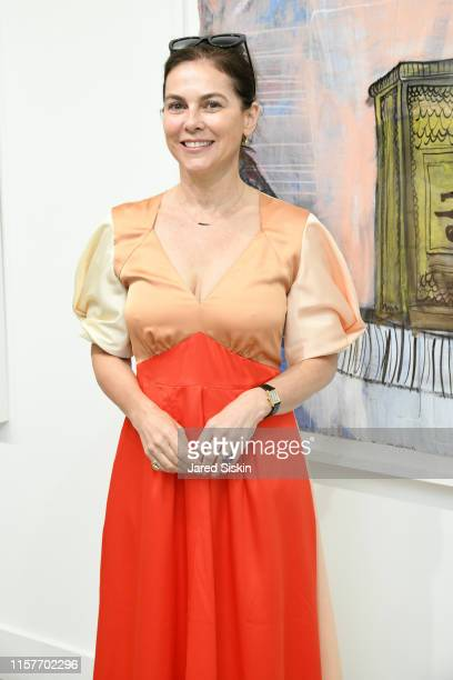 Margeau Dyer attends Deborah Buck And Richard Heinrich At Ille Arts at ILLEArts on June 22 2019 in Amagansett New York