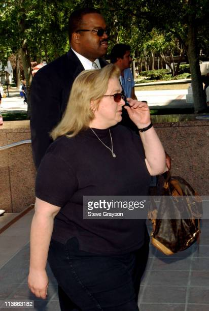 Margerry Bakley, sister of Bonny Lee Bakley, arrives at Van Nuys Superior Court under police escort for the arraignment of actor Robert Blake in the...
