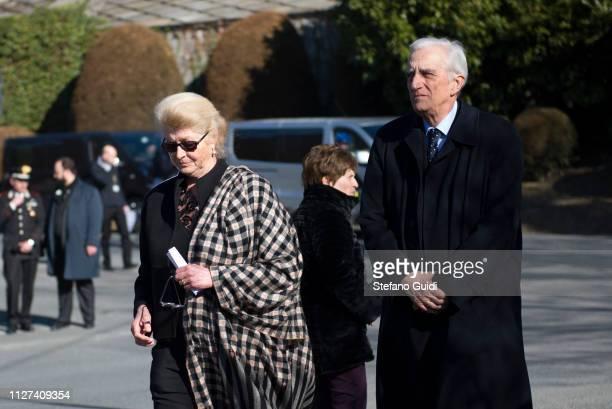 Margherita Agnelli and Serge De Pahlen during the funeral of Marella Agnelli Caracciolo of Castagneto at the Church of San Pietro in Vincoli Marella...