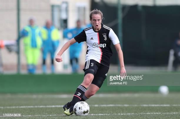 Margherita Brscic of Juventus Women U19 in action during the Viareggio Women's Cup match between Juventus U19 and FC Internazionale U19 on February...