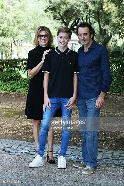 Margherita Buy Andrea Pittorino and Bruno Tedeschini attend a photocall for 'La Vita Possibile' at La Casa Del Cinema on September 19 2016 in Rome...