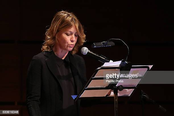 """Margherita Buy at the Book Fair in Turin. A hundred years after the birth of Natalia Ginzburg, Margherita Buy reads pages of """"Caro Michele"""" and..."""