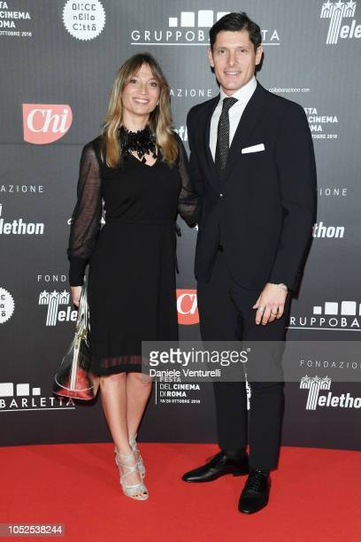 Margherita Granbassi and Aldo Montano attend the Telethon Gala during the 13th Rome Film Fest at Villa Miani on October 19 2018 in Rome Italy