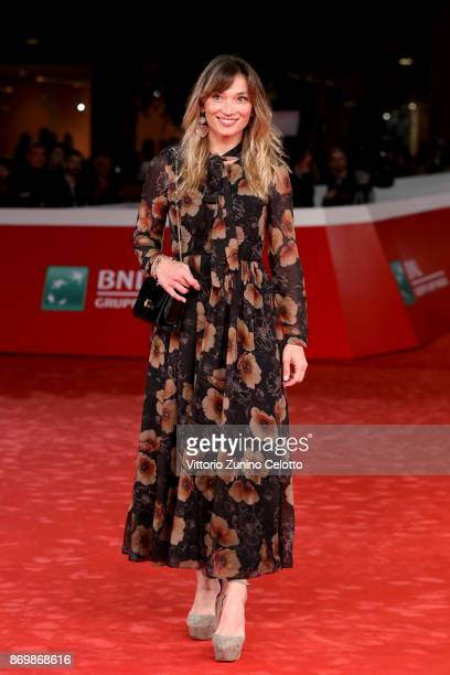 Margherita Granbassi walks a red carpet for 'Borg McEnroe' during the 12th Rome Film Fest at Auditorium Parco Della Musica on November 3 2017 in Rome...