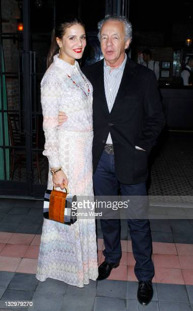 Margherita Maccapani Missoni and Gilles Bensimon attend the M Missoni Capsule Collection launch for OrphanAid Africa at The Bowery Hotel on November...