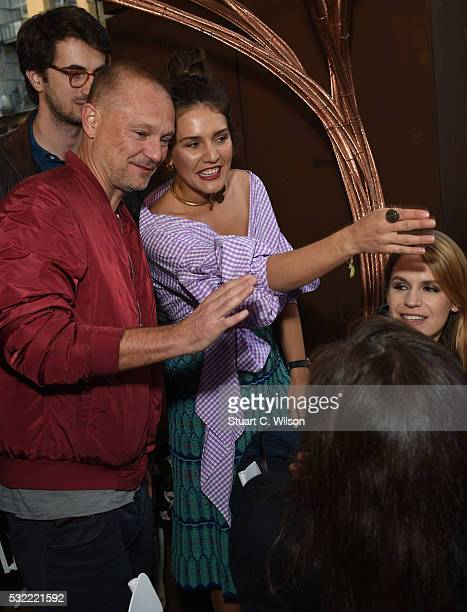 Margherita Maccapani Missoni and Juergen Teller are pictured at The House of Peroni Residency at Proud East in Haggerston on May 18 2016 in London...
