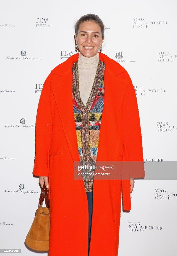 Margherita Maccapani Missoni attends 'Italiana. L'Italia Vista Dalla Moda 1971-2001' exhibition preview during Milan Fashion Week Fall/Winter 2018/19 at Palazzo Reale on February 21, 2018 in Milan, Italy.