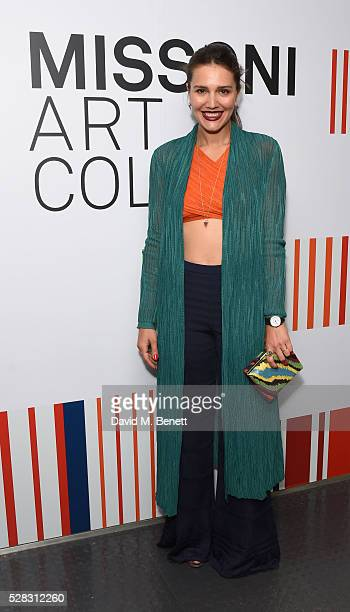 Margherita Maccapani Missoni attends the 'Missoni Art Colour' private view and dinner in partnership with Woolmark at The Fashion and Textile Museum...