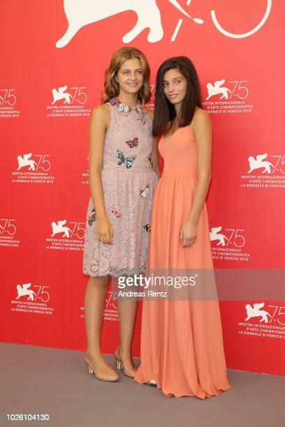 Margherita Mazzucco and Gaia Girace attend 'My Brilliant Friend ' photocall during the 75th Venice Film Festival at Sala Casino on September 2 2018...