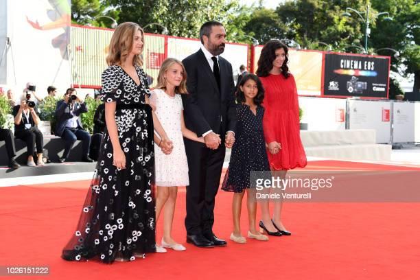 Margherita Mazzucco Elisa Del Genio Saverio Costanzo Ludovica Nasti and Gaia Girace walk the red carpet ahead of the 'My Brilliant Friend ' screening...