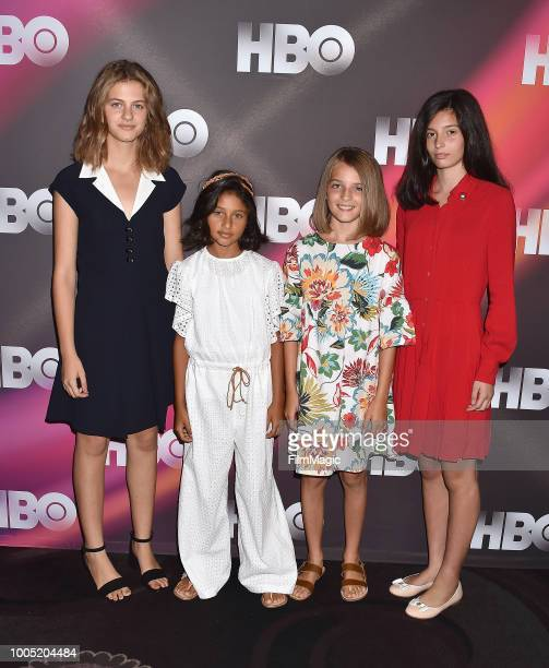 Margherita Mazzucco Ludovica Nasti Elisa Del Genio and Gaia Girace attend HBO Summer TCA 2018 at The Beverly Hilton Hotel on July 25 2018 in Beverly...