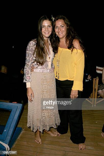 Margherita Missoni and Angela Missoni during 2004 Venice Film Festival A Love Song For Bobby Long Party Sponsored By Missoni at The Missoni Boat in...