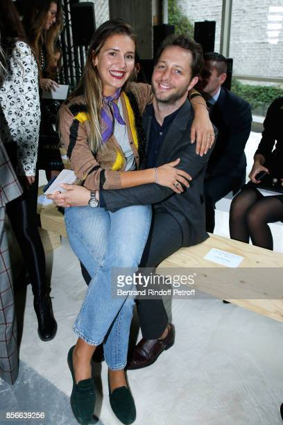 Margherita Missoni and Derek Blasberg attend the Giambattista Valli show as part of the Paris Fashion Week Womenswear Spring/Summer 2018 on October 2...