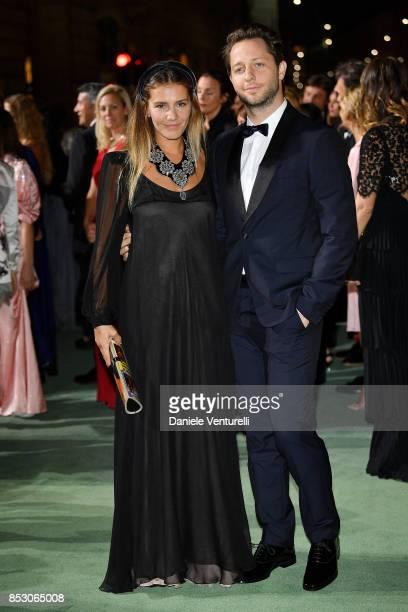 Margherita Missoni and Derek Blasberg attend the Green Carpet Fashion Awards Italia 2017 during Milan Fashion Week Spring/Summer 2018 on September 24...