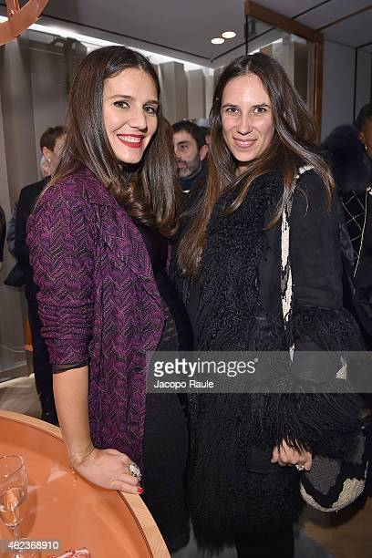 Margherita Missoni and Tatiana Santo Domingo attend the Missoni opening store at 219 Rue Saint Honore during the Paris Fashion Week Haute Couture...