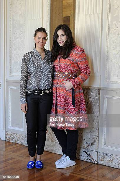 Margherita Missoni and Teresa Missoni attend the press conference of Umberto Veronesi Foundation on March 19 2014 in Milan Italy